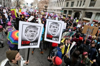 Thousands of demonstrators take part in the Women's March and rally a day after the inauguration of Donald Trump in Oakland, Calif., on Saturday, Jan. 21, 2017. (Ray Chavez/Bay Area News Group)