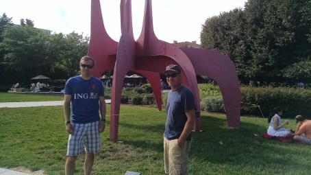 Chris got to check out some Calder sculpture he hadn't seen before.