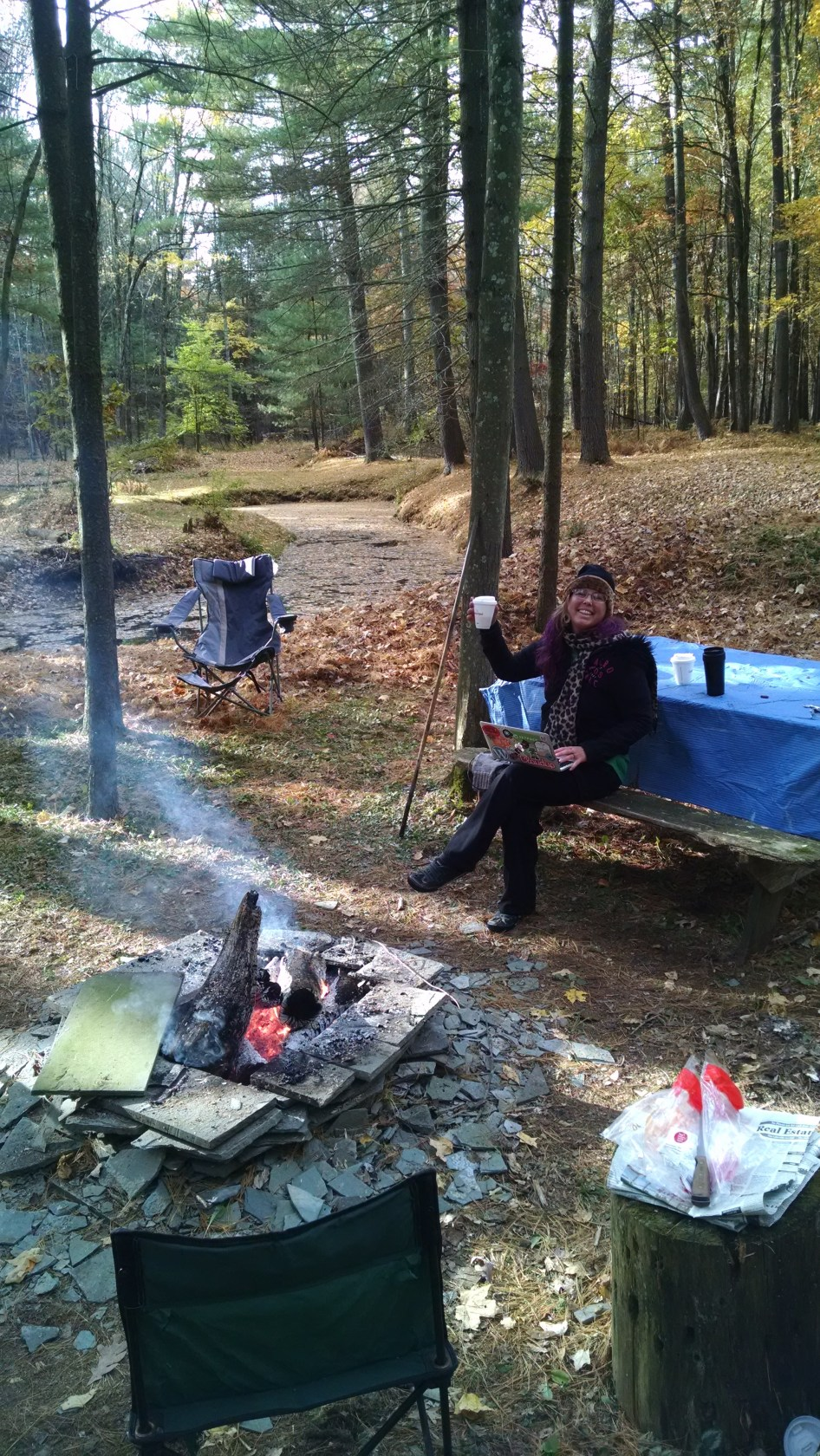 Camping on a workday. Life is great!