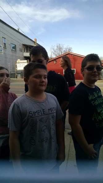 Done schlepping and still smiling. Great kids.