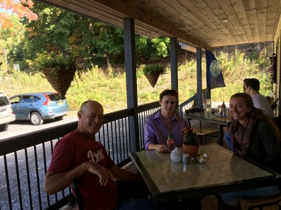 Lunch with Hudi, Chris and Mollie at Cafe Sol near Bristol, NY