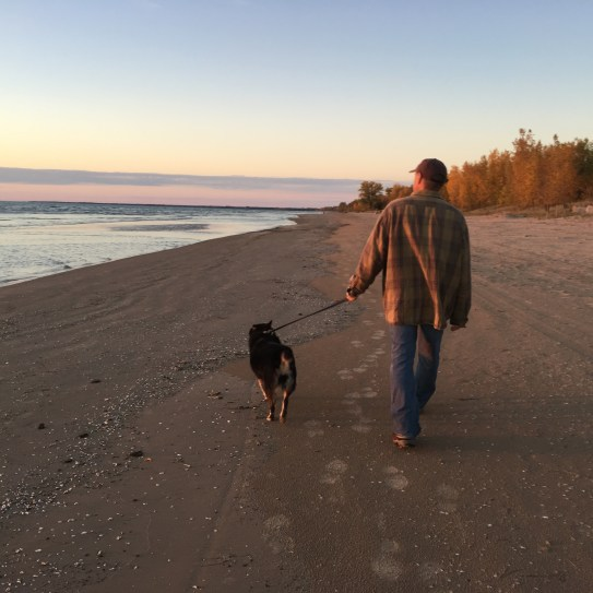 Our new daily walk stretch. Heaven.