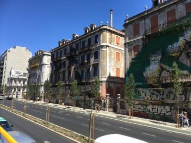 Super art on buildings.