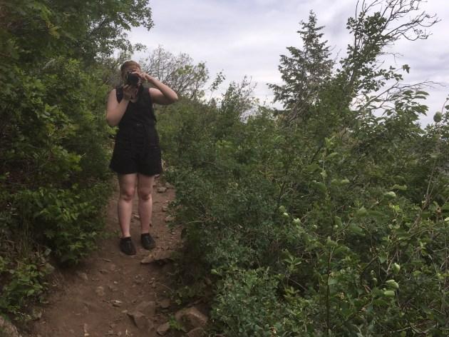 Lauren photographing
