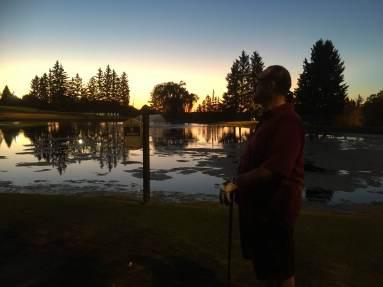 2018 Sam golfing at Bob O Links