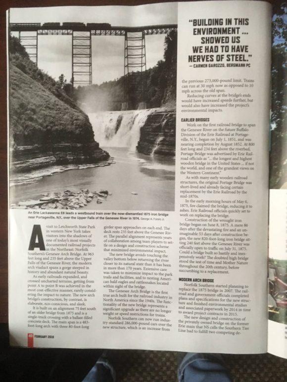 Train Article in Magazine