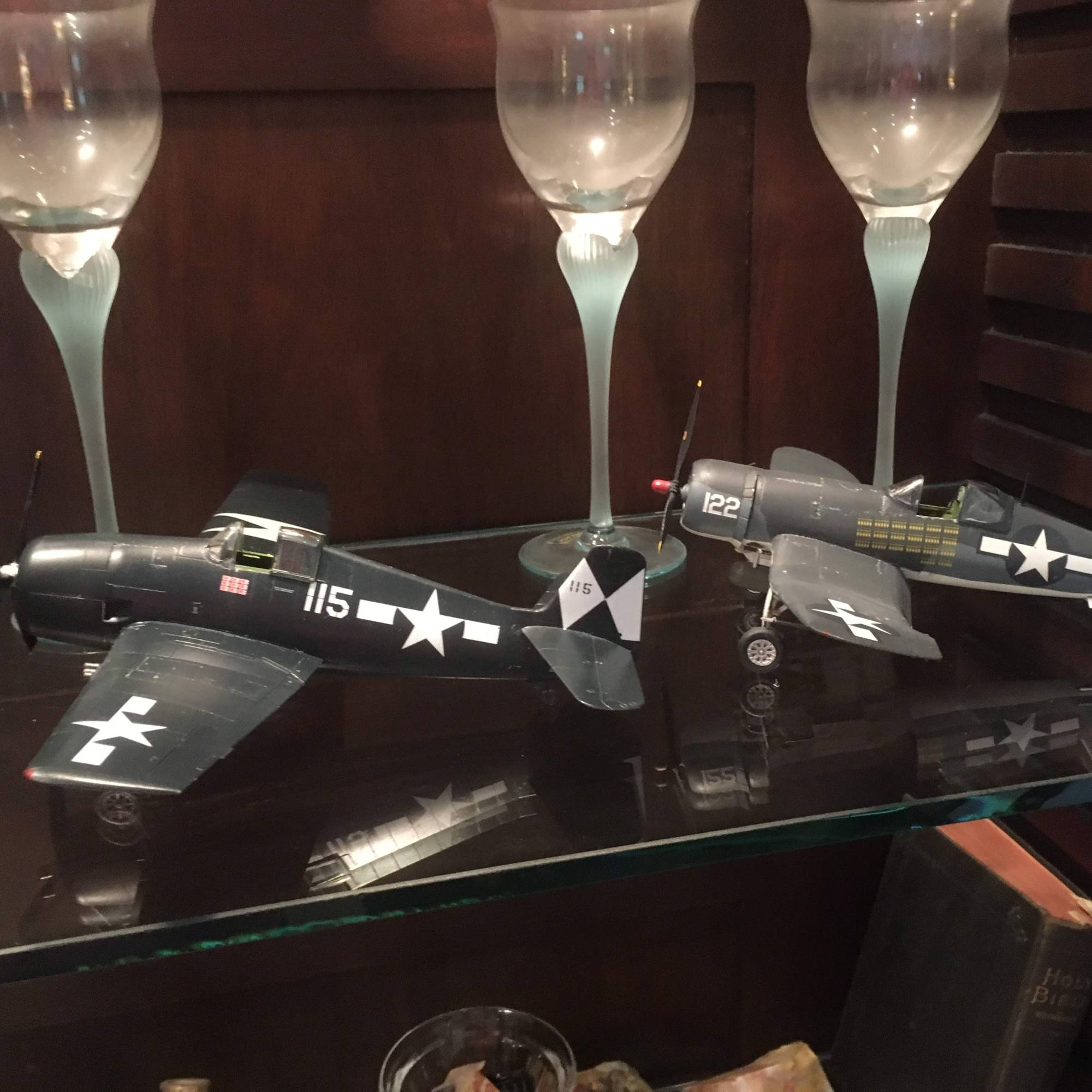 two model airplanes