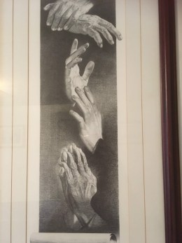 Let us Pray - Art showing hands