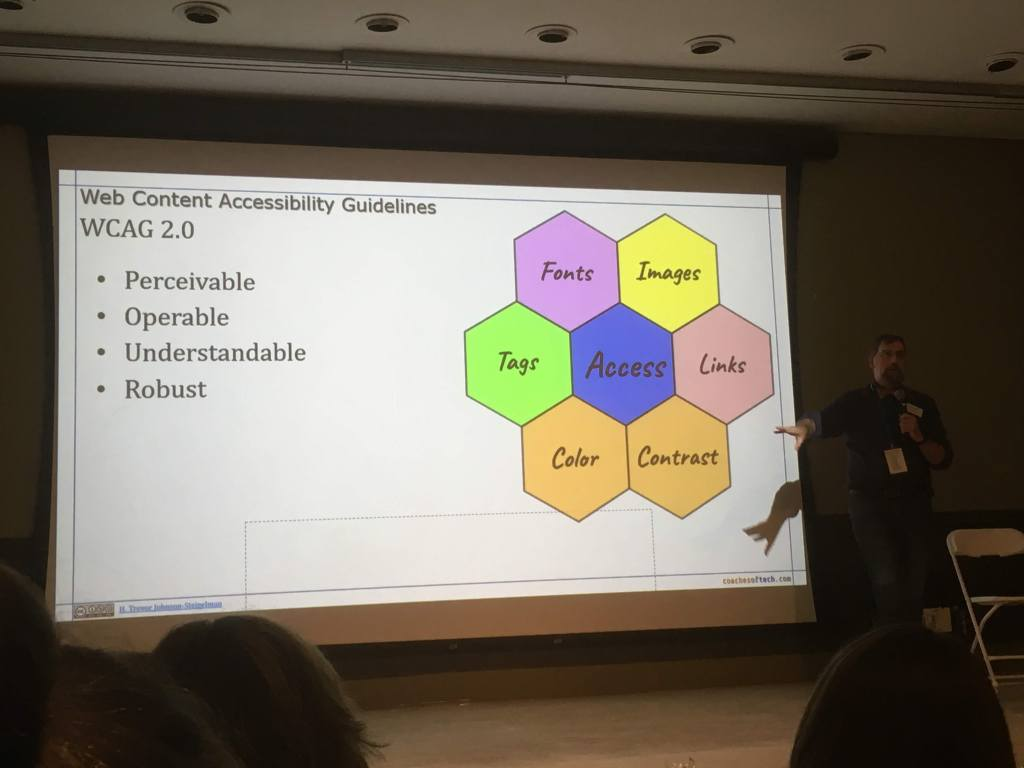 Accessibility Session at  WordCamp Rochester.