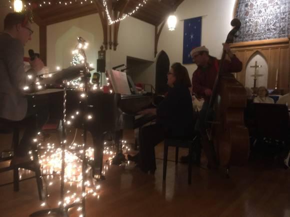 Musicians playing carols
