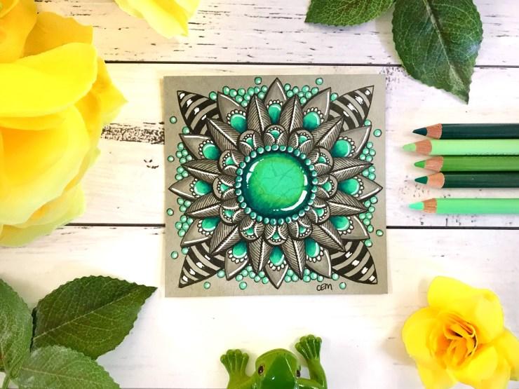 Ornate Gem Tile by Chrissie Murphy Designs