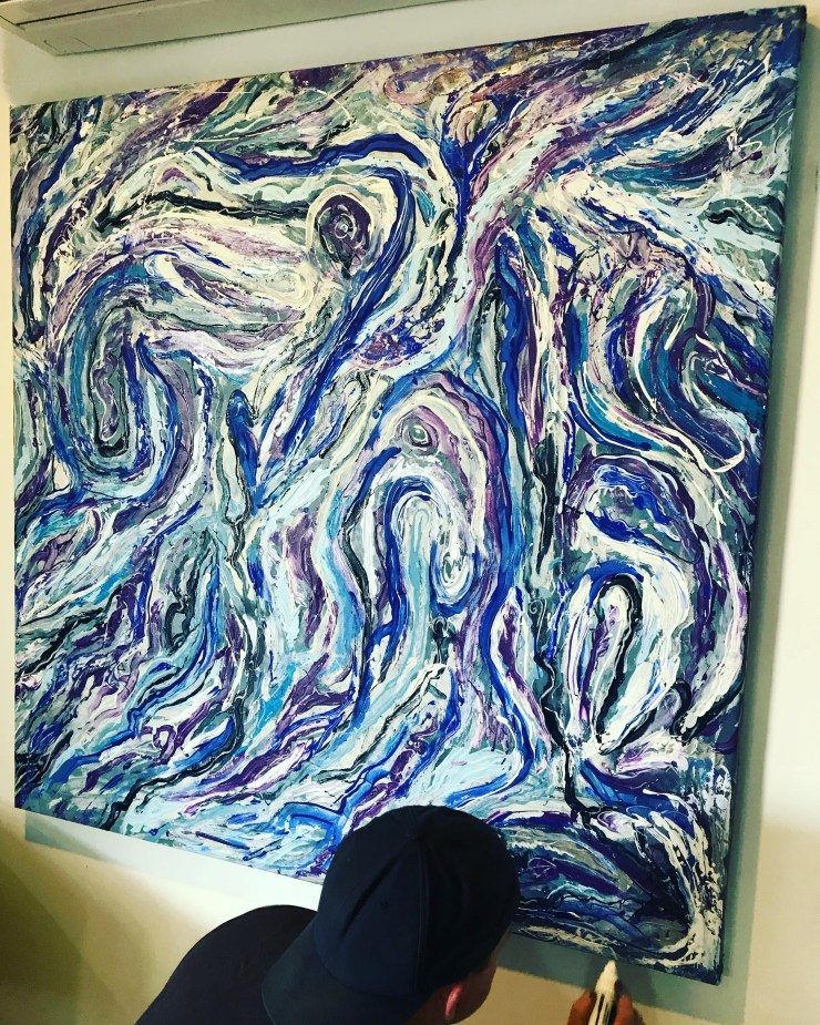 """Blue and Purple Swirl"" by Nick Hoops"