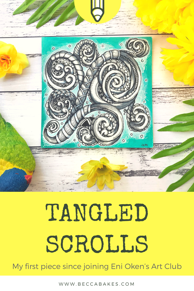 Tangled Scrolls by Chrissie Murphy Designs as part of Eni Oken's Art Club