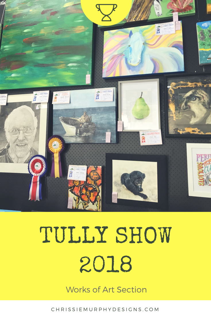 Tully Show 2018 Works of Art Section