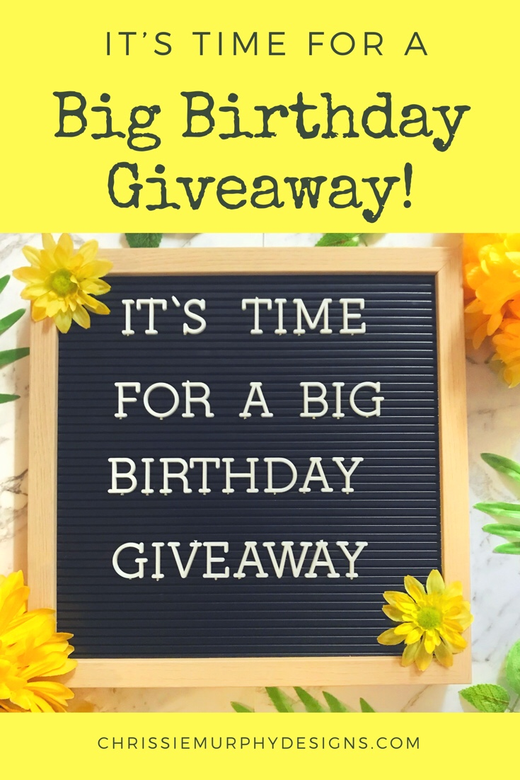 It's time for a Big Birthday Giveaway!
