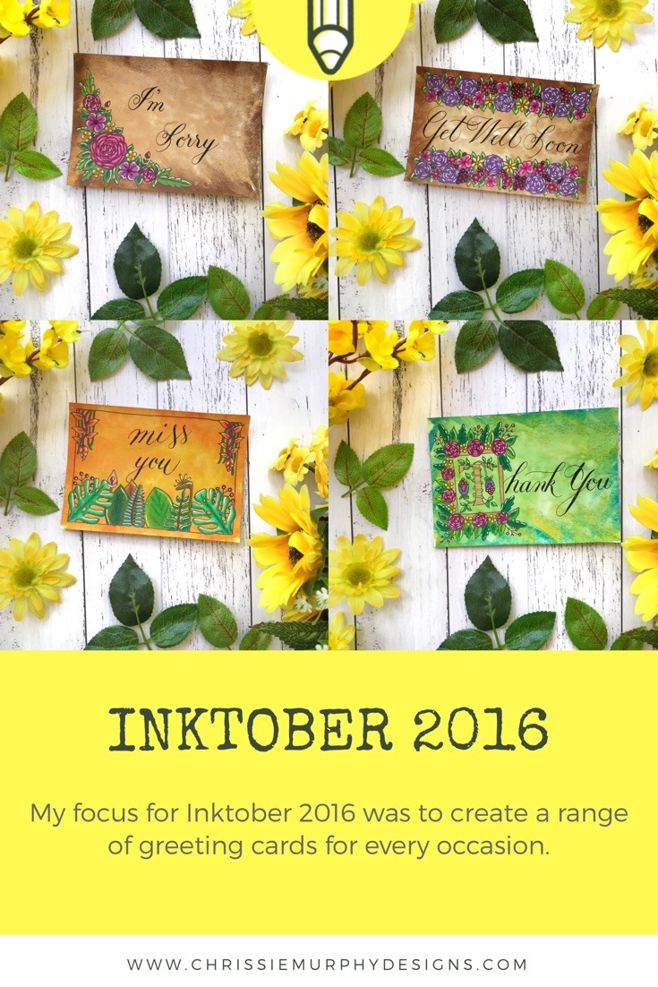 Inktober 2016 with Chrissie Murphy Designs