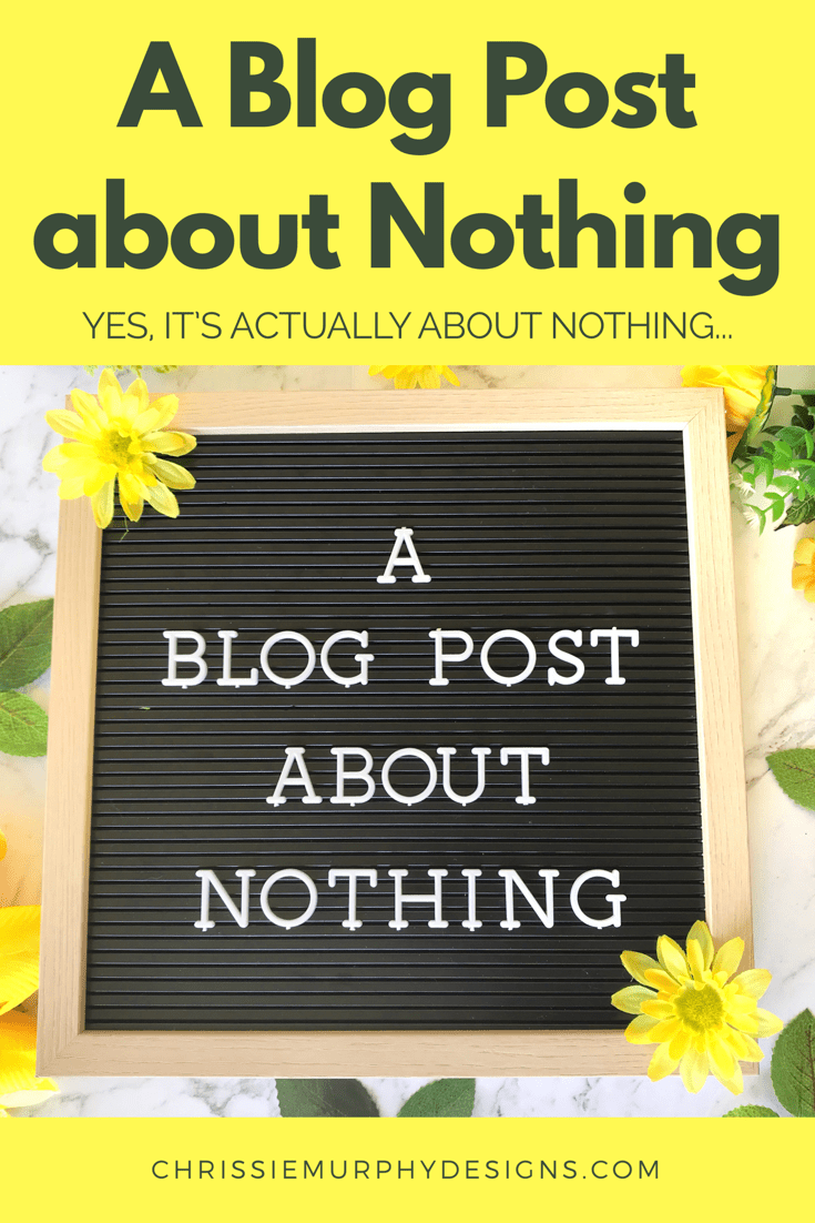 A Blog Post about Nothing