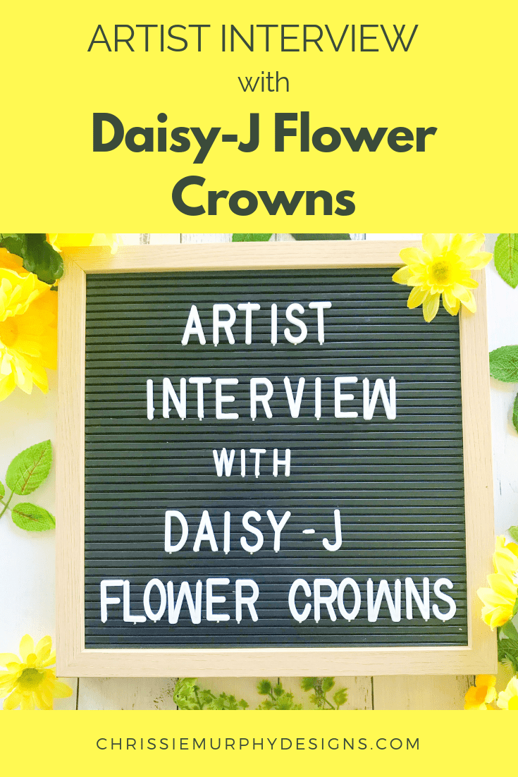 Artist Interview with Daisy-J Flower Crowns