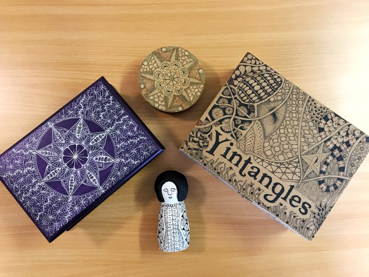 Yintangles, Zentangling by Yvonne Rein