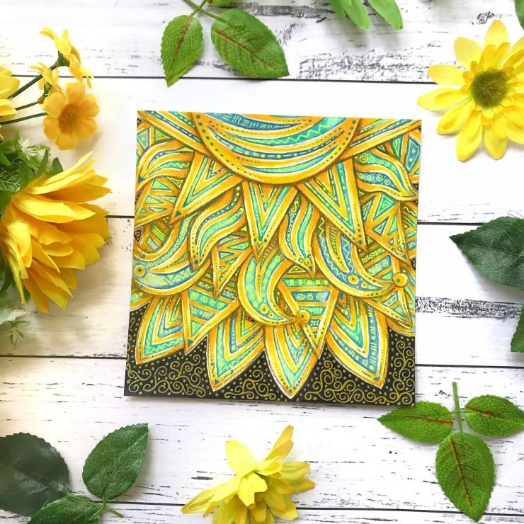 My Blue Sun lesson with Eni Oken Art Club