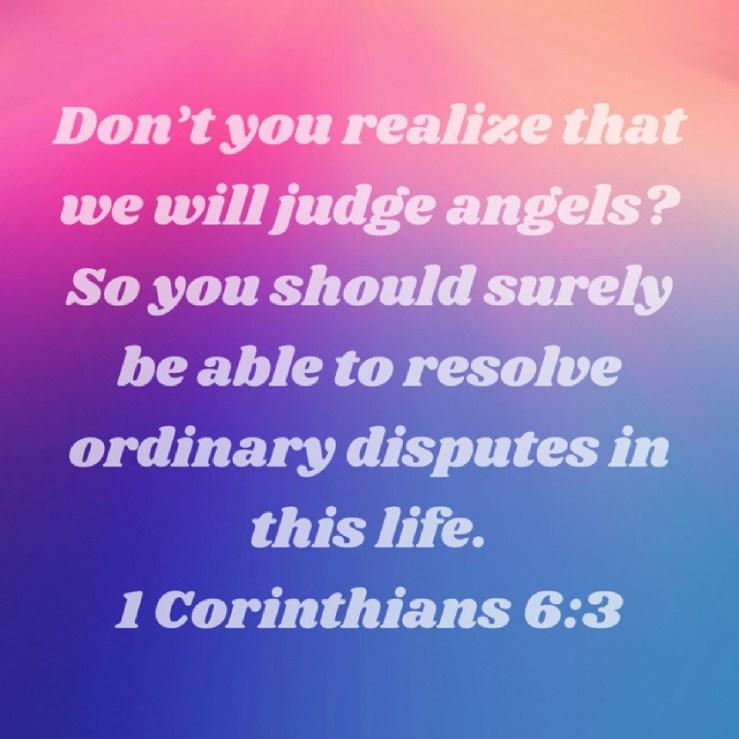 1 Corinthians 6:3