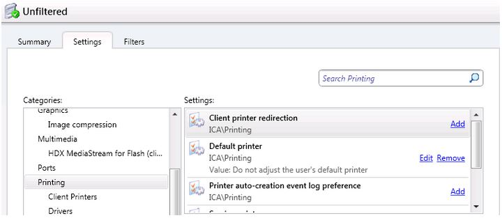 Citrix XenDesktop + Default printers not sticking