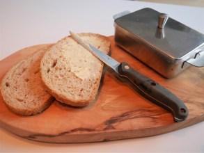 Delicious fresh bread and full cream butter