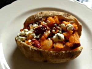 Meatless Monday Buffalo Chili Potato