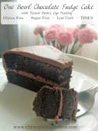 One Bowl Chocolate Fudge Cake