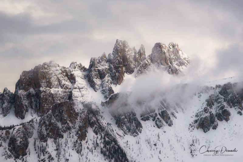 Winter Landscape Photography of Dolomites In Italy by Chrissy Donadi