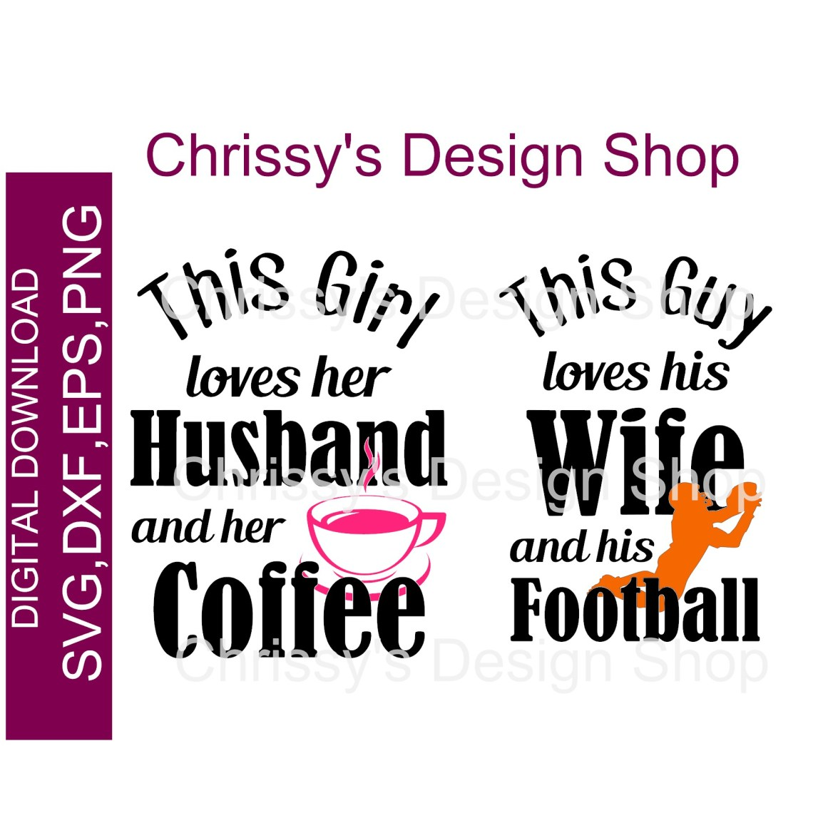 Download Love football and coffee couples SVG DXF PNG - Chrissy's ...