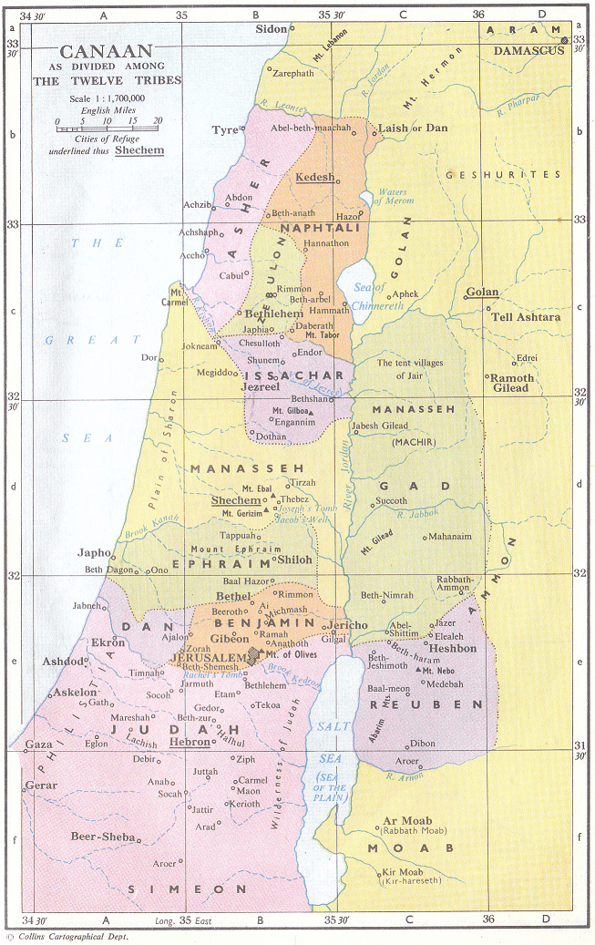 Tribal inheritances in Israel
