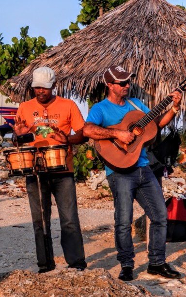 Musicians at our beach dinner in Trinidad