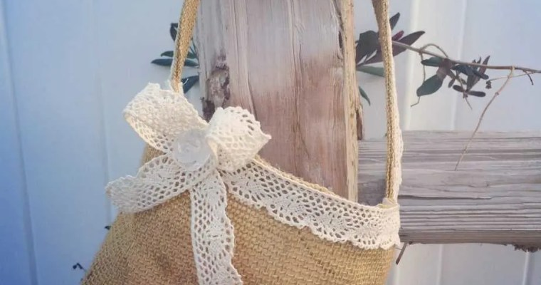 Burlap Easter Basket Photo Tutorial