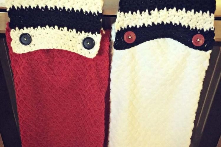 crochet towel topper