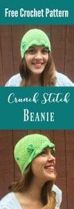crunch stitch beanie