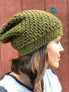 textured slouchy hat