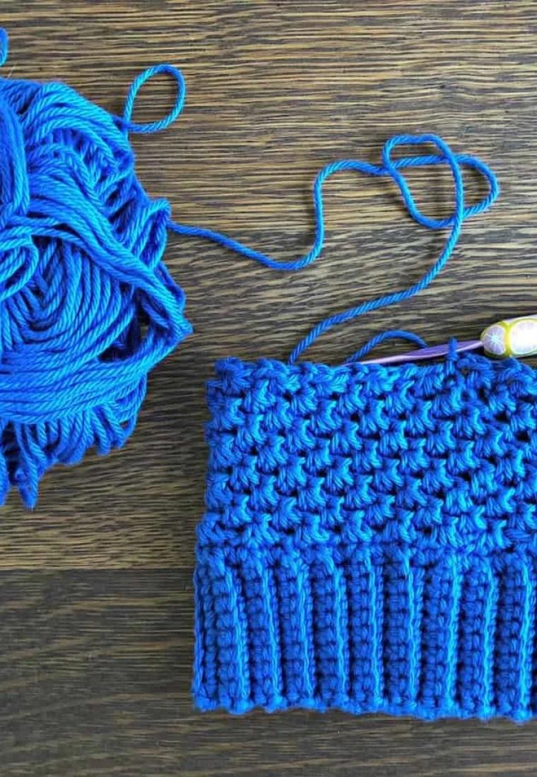 Single Crochet Cluster Stitch Photo Tutorial