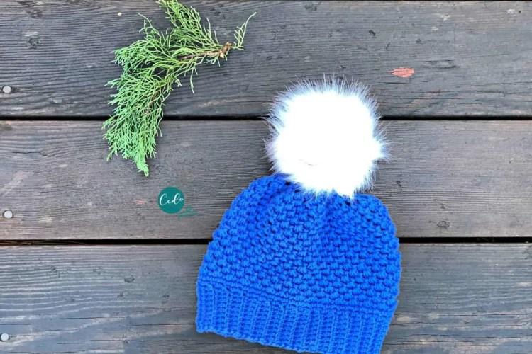 Child Size Winter Pom Free Crochet Hat Pattern Christacodesign