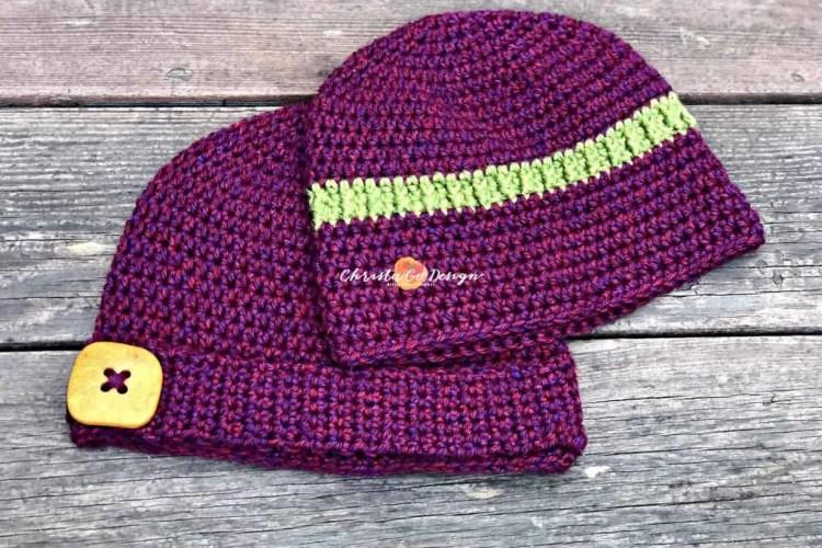 Embellished Basic Beanie Free Crochet Pattern Christacodesign