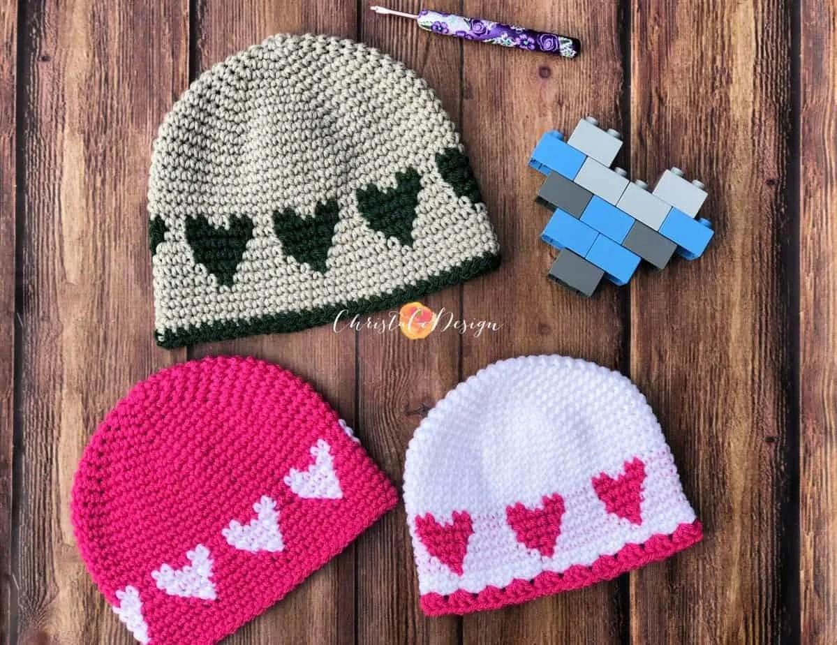 Crochet Sweetheart Hat Free Pattern