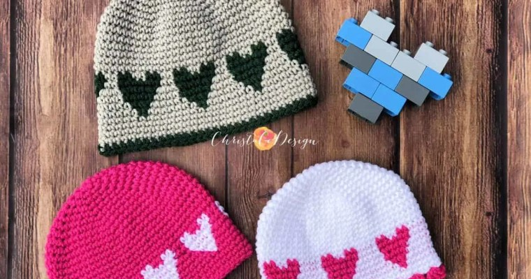 Crochet Sweetheart Hat Free Pattern