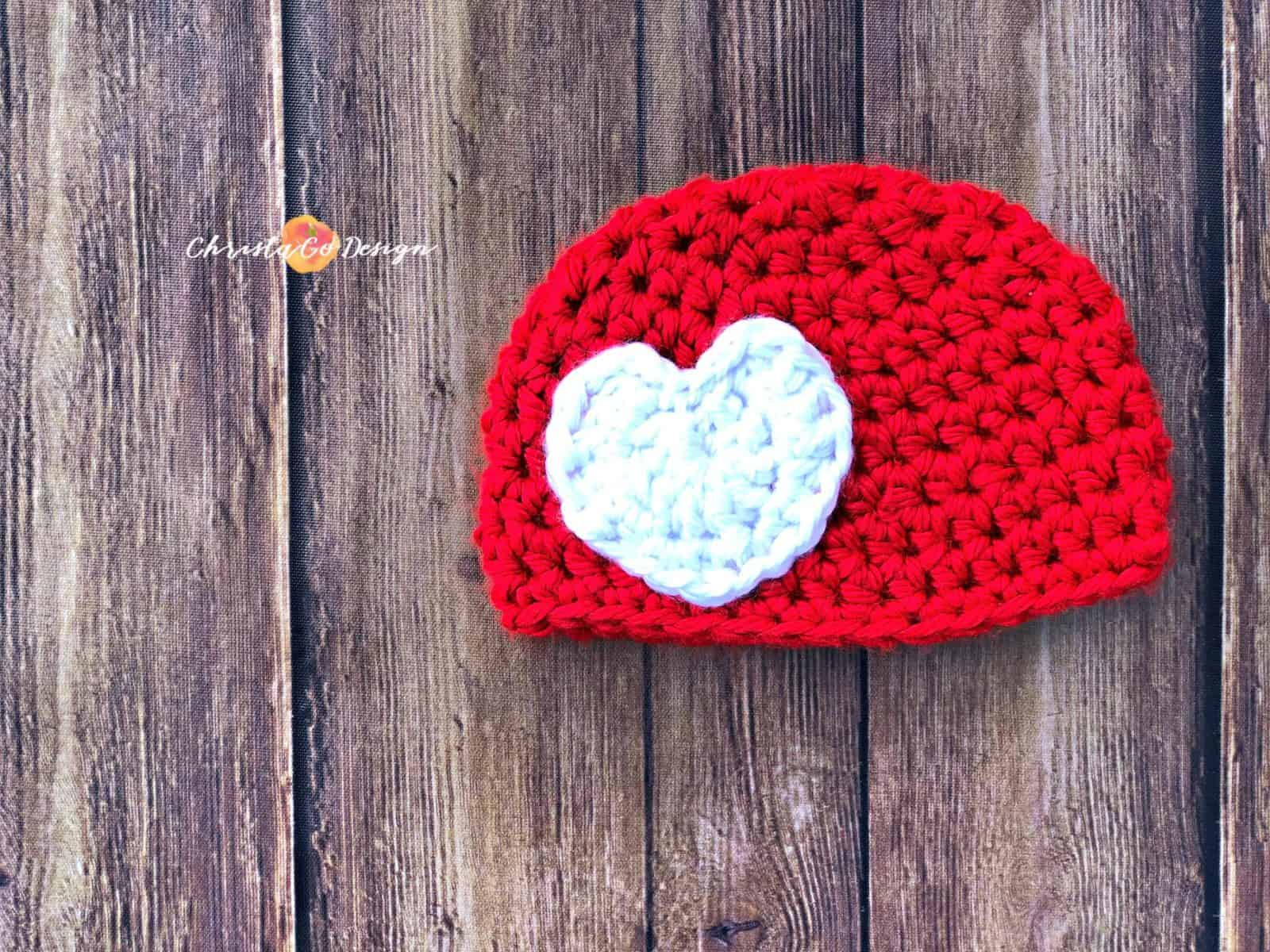Minutes tiny crochet heart applique favecrafts