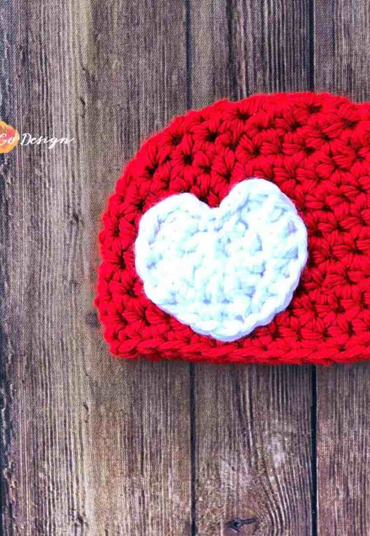 Crochet Heart Applique Free Pattern