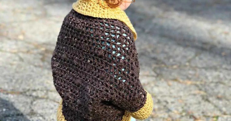 Bobble Cocoon Shrug Free Crochet Pattern