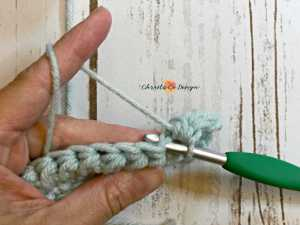 mini bean crochet stitch