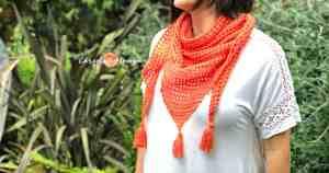 Easy Crochet Mesh Triangle Shawl Pattern - ChristaCoDesign