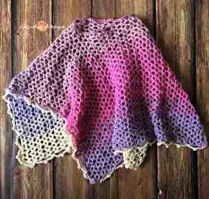 merletto crochet lace poncho