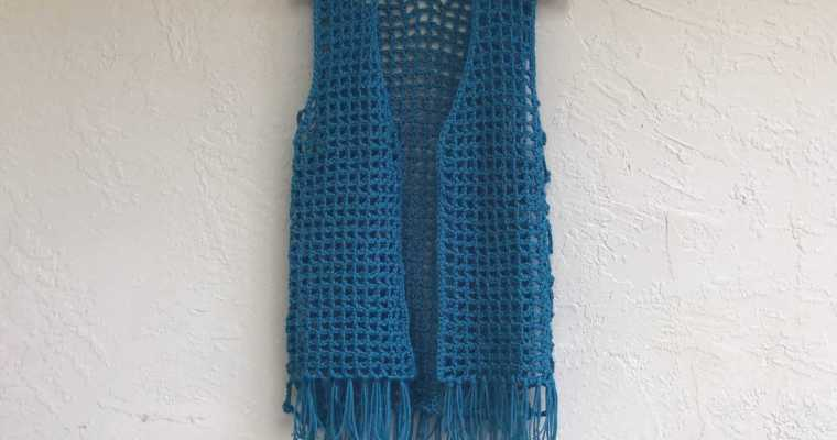 Maglia Crochet Mesh Vest Pattern