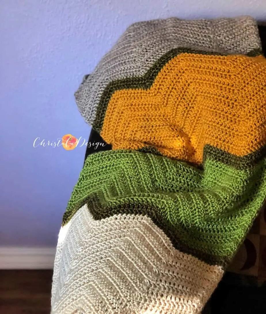 Crochet Chevron Baby Blanket Free Pattern